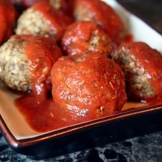 Vegan meatballs made from eggplant!
