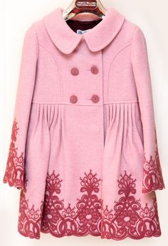PINCO PALLINO - Pink Shaded Winter Coat