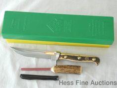 Puma Knifemakers Germany Puma Trail Staghorn Model 6382 Knife w Stone 1984 cvx