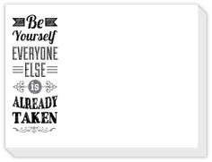 Rosanne Beck Gifts | Be yourself everyone else is already taken slab pad | Polka Dot Design