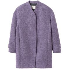 Rebecca Taylor Boucle Cocoon Coat (€265) ❤ liked on Polyvore featuring outerwear, coats, jackets, coats & jackets, thistle, rebecca taylor coat, rebecca taylor, purple coat, over coat and boucle coat