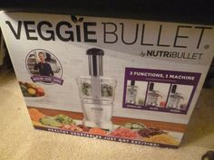 Veggie Bullet VB-BX001-23 Food Processor Spiralize Shred Slice NIB #NutriBullet