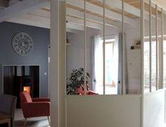 Verrière entre chambre et salon - La Manufacture Nouvelle Deco Studio, Divider, New Homes, Farmhouse, Room, Style Classique, Furniture, Archive, Home Decor