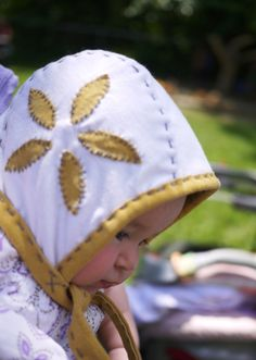 Baby bonnets from upcycled tshirts