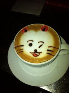 Latte art kittie