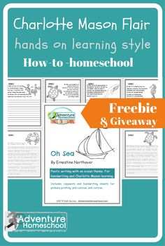 Charlotte Mason Flair is one way I'd describe our hands on learning style. True Charlotte Mason style means more writing and copywork than we typically do. Frugal Family, All Family, Free Preschool, Preschool Kindergarten, Handwriting Sheets, Homeschool Curriculum Reviews, How To Start Homeschooling, Charlotte Mason, Hands On Learning