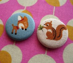 Little Colin button Fabric Covered Button, Covered Buttons, Button Maker, Fabric Brooch, Daddys Little, Button Badge, Cute Pins, Tin Boxes, Squirrel