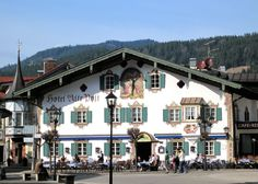 Painted hotel in Oberammergau, Bavaria