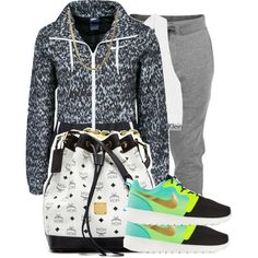A fashion look from April 2015 featuring nike jackets, gray sweatpants and Calvin Klein Underwear. Browse and shop related looks. Chill Outfits, Casual Outfits, Cute Outfits, Tomboy Swag, Comfy Pants, Calvin Klein Underwear, College Outfits, Polyvore Outfits, Swagg