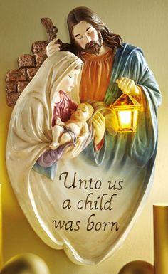 Nativity Lighted Wall Sculpture Hanging Wall Decor