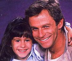 Father and daughter Robert (Tristan Rogers) and Robin Scorpio (Kimberly McCullough) back in the 80s on General Hospital.