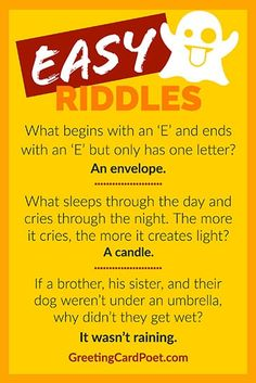 Easy riddles to play on car rides or around the dinner table. Help children learn to think in creative ways and build confidence. Plus, it's fun! Best Picture For einstein Riddles Funny Jokes And Riddles, Funny Riddles With Answers, What Am I Riddles, Funny Jokes For Kids, Dad Jokes, Mind Riddles, Funny Puns, Brain Teasers Riddles, Creative Kids