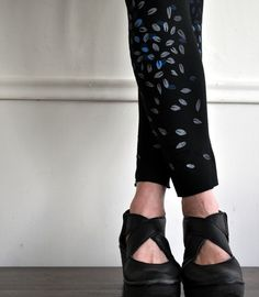 hand made screen printed leggings #prettypennydesigns