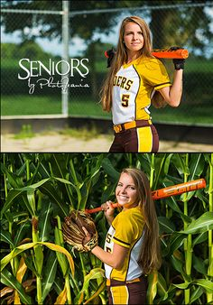 Rider in the Corn: Farm Girl Slugger Josie Hume from London, OH. Softball senior picture ideas in a cornfield. #softballseniorpictureideas #softballseniorpictures #seniorsbyphotojeania