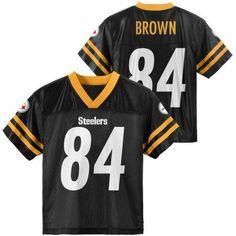 81c24f94b9f Antonio Brown Pittsburgh Steelers Black Boys Home Player Jersey