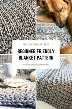 This chunky knit throw blanket pattern is totally beginner-friendly. Make a huge squishy throw for This chunky knit throw blanket pattern is totally beginner-friendly. Make a huge squishy throw for Beginner Knitting Patterns, Free Knitting, Knitting Projects, Knitting For Beginners Projects, Beginner Knitting Blanket, Simple Knitting, Knitting Tutorials, Loom Knitting, Chunky Knit Throw Blanket