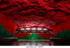 Solna centrum, metro station, Stockholm, Sweden - Stock Image