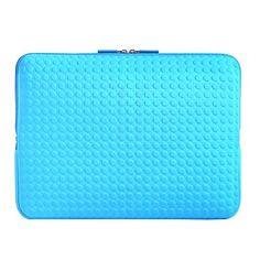"""Exco+14+""""reliëf+dot+neopreen+laptop+sleeve+geval+blauw+zwart+roze+zilver+–+EUR+€+19.59"""