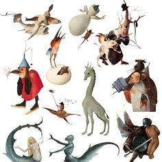 Animales, monstruos y criaturas fantásticas en el Bosco