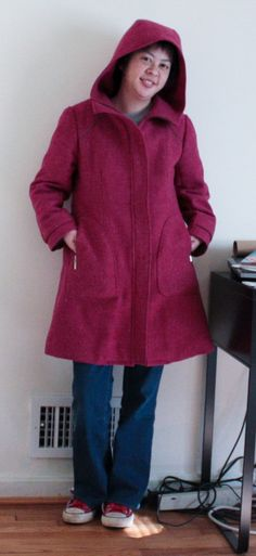 Waffle Patterns Peppernoot coat -using the denim?