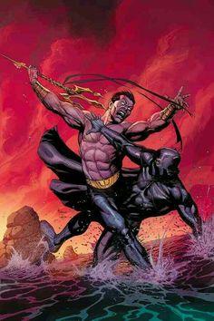 Namor the Sub-Mariner vs. Black Panther - Marvel Comics