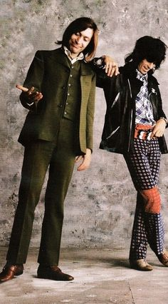 Charlie Watts and Keith Richardss, photo shoot for Sticky Fingers, 1971
