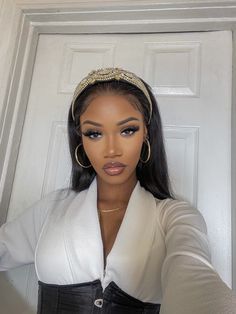 Glam Makeup, Beauty Makeup, Hair Makeup, Hair Beauty, Glamour Makeup Looks, Black Girl Makeup, Girls Makeup, Black Girl Fashion, Pretty Black Girls