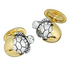 Jan Leslie Baby Turtle Cufflinks