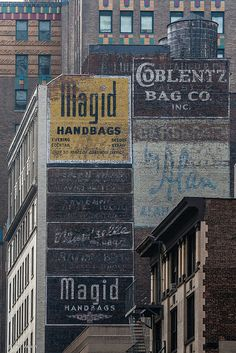Vintage hand painted ghost sign advertisements - New York City