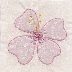 Free Embroidery Design: True Trapunto Flower