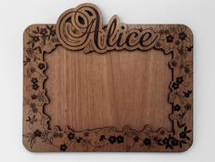 Personalised Photo frame - Laser engraved and cut from 4mm sapele plywood @ColourChiefs