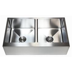 eModern Decor Ariel x Stainless Steel Double Bowl Farmhouse Kitchen Sink Farmhouse Apron Sink, Farmhouse Style, Farmhouse Kitchens, Contemporary Kitchen Sinks, Kitchen Strainer, Double Bowl Kitchen Sink, Plumbing Fixtures, Stainless Steel Kitchen, Basin