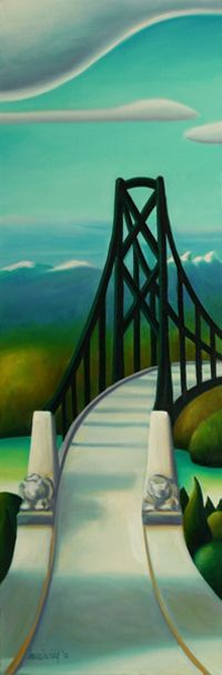 Above the Lions Gate [Lions Gate bridge, Vancouver, BC] by BC artist Dana Irving