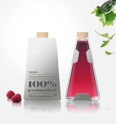 """100% Geschmackvoll Salad Dressing Bottle Design by Maria Grønlund, via Behance 
