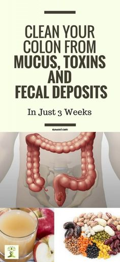 Healthy Living How To Clean Your Colon From Mucus, Toxins And Fecal Deposits In Just 3 Weeks Colon Cleanse Detox, Natural Colon Cleanse, Natural Detox, Intestine Detox Cleanse, Natural Health, Detox Cleanses, Candida Cleanse, Whole Body Cleanse, Cleaning Your Colon