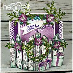 Heartfelt Creations - Festive Gate Center Step Card Project