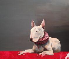 The pink portrait, painting, acrylic on canvas || Portret różowy , obraz, akryl na płótnie
