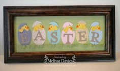Stampin' Up! Easter  by Melissa Davies at RubberFUNatics: Framed Art - Easter Chicks
