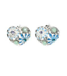 Alannah Hill - Where Has She Gone Earring- Heart shaped Earring. Match it with the Where Has She Gone Clip- For your something blue!