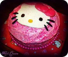 Hello Kitty Cake...had to re-pin from myself so I can find it on my cell phone tomorrow when I have to make it.