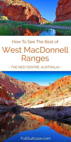 How to see the best of West MacDonnell Ranges in Australia's Red Centre. Most beautiful gorges, day trip itinerary, and practical tips. Find out! Outback Australia, Australia Tours, Visit Australia, Australia Travel, Western Australia, Brisbane, Melbourne, Sydney, Places To Travel