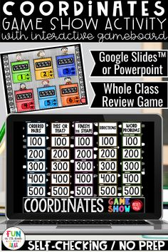 Fun and engaging coordinate plane game show is perfect to use for whole class engagement or during distance learning. 5th