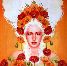 Artista nor-coreana que con sus pinturas expresa el bello arte de la feminidad y misticismo.