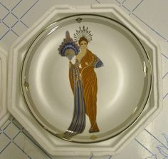 """Franklin Mint Art Deco HOUSE OF ERTE' PLATE """"ATHENA"""" Limited Edition with COA"""