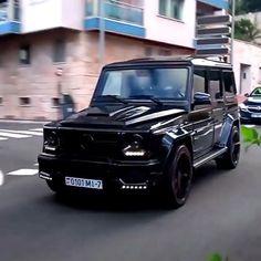 All Black Spec'd G-Wagon Luxury Best Luxury Cars, Luxury Suv, G Wagon, Mercedes Amg, All Black, Jeep, Cutaway, Jeeps