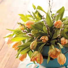 This simple tulip bouquet is an elegant spring centerpiece for Easter from Taste of Home
