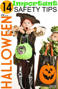 14 Important Halloween Safety Tips - Safety first, see these Halloween Hacks and Tips on Frugal Coupon Living.