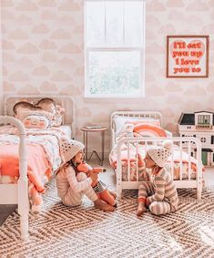 Create a beautiful atmosphere with children's wall decor from Project Nursery. Baby nursery wall decorations include letter sets, hangings, sculptures and more. Cute Teen Rooms, Big Girl Rooms, Kids Rooms, Childrens Room, Fantasy Bedroom, Shared Rooms, Nursery Wall Decor, Room Decor, Pink Room