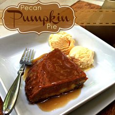 One of the best pies you will ever eat! It really is SO good! Pecan Pumpkin Pie from TodaysTaste.com