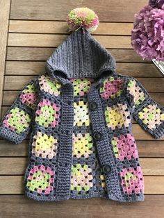 Baby cardigan # handmade # knitting pattern # crochet # cardigan # cardigan – The Best Ideas Gilet Crochet, Crochet Baby Cardigan, Knit Baby Dress, Crochet Baby Clothes, Crochet Jacket, Crochet Granny, Booties Crochet, Knitted Baby, Crochet Hats